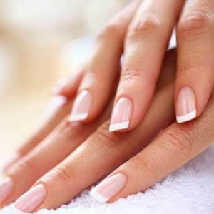 Photo of healthy manicured nails